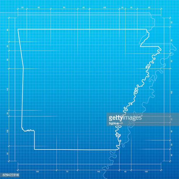 Little rock arkansas stock illustrations and cartoons getty images arkansas map on blueprint background malvernweather Choice Image