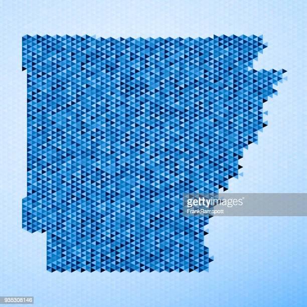 Arkansas Karte Dreieck Muster Blau
