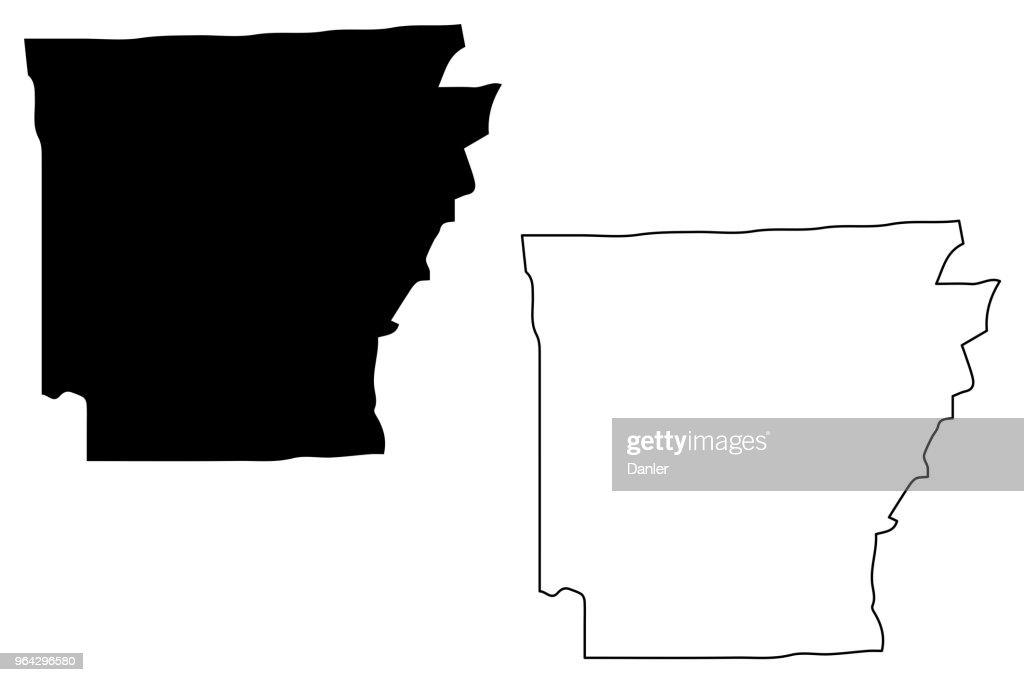 Arkansas map vector