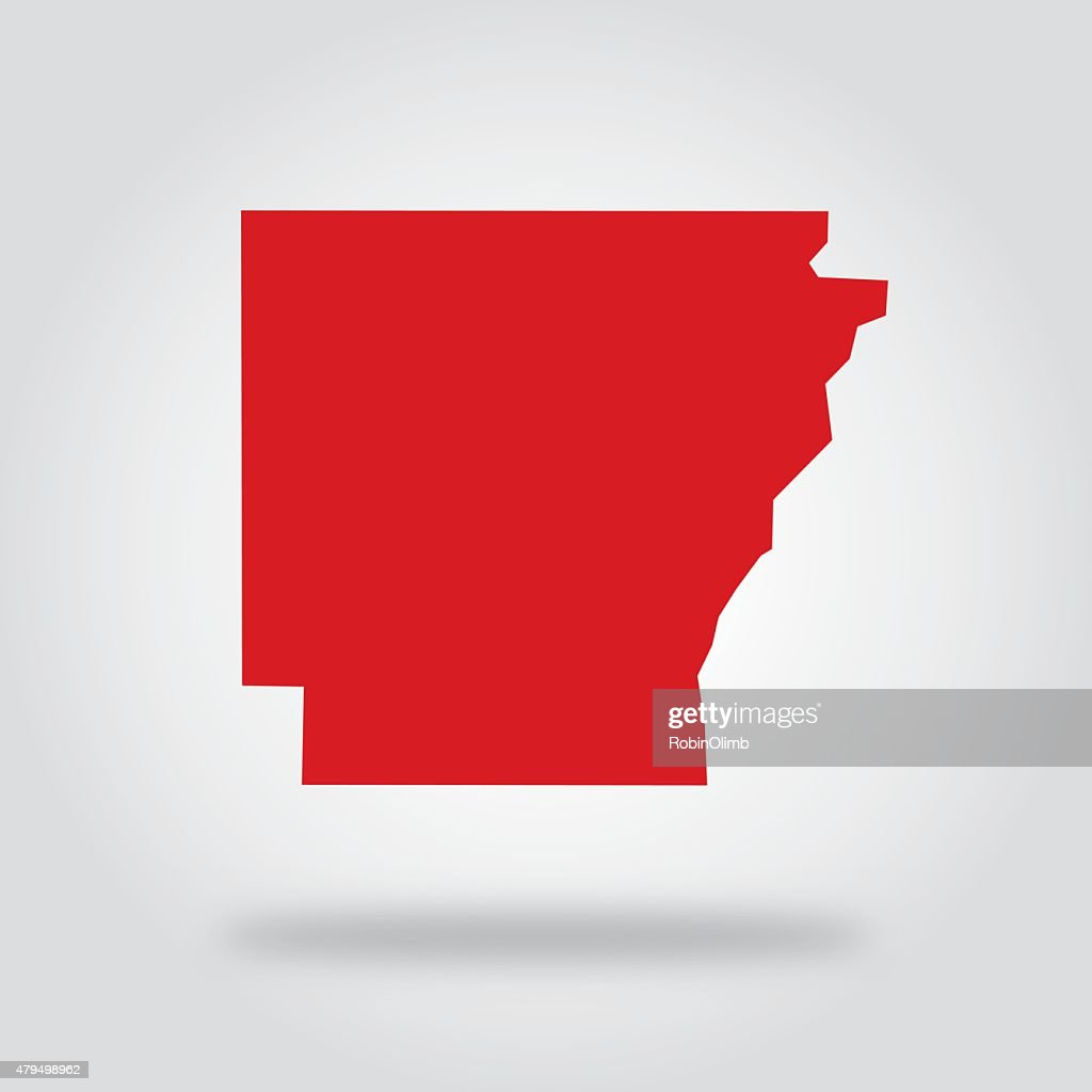 Arkansas Red State Icon