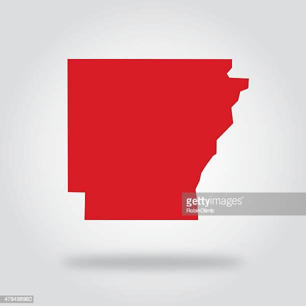 arkansas red state icon - arkansas stock illustrations