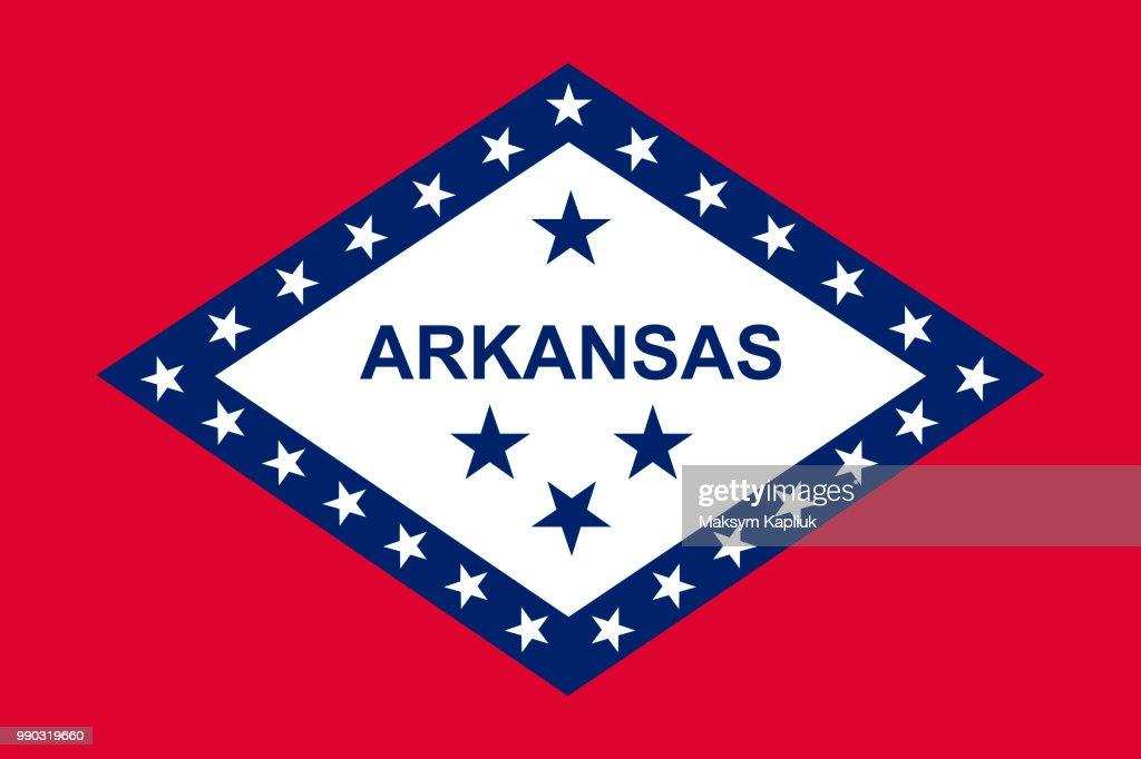 Arkansas state flag. Vector illustration