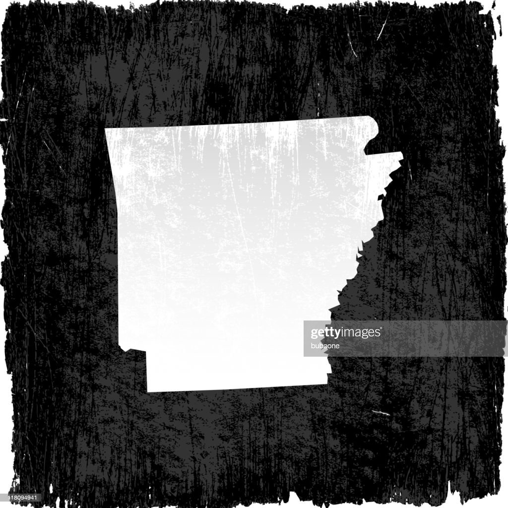 Arkansas state map on royalty free vector Background