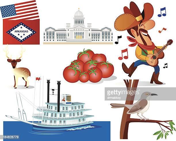 arkansas symbols - promenade stock illustrations, clip art, cartoons, & icons