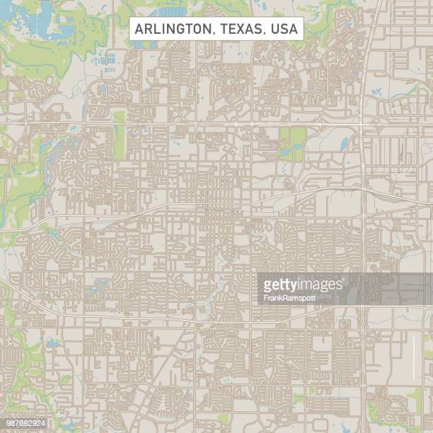 arlington texas us stadt stadtplan - arlington texas stock-grafiken, -clipart, -cartoons und -symbole