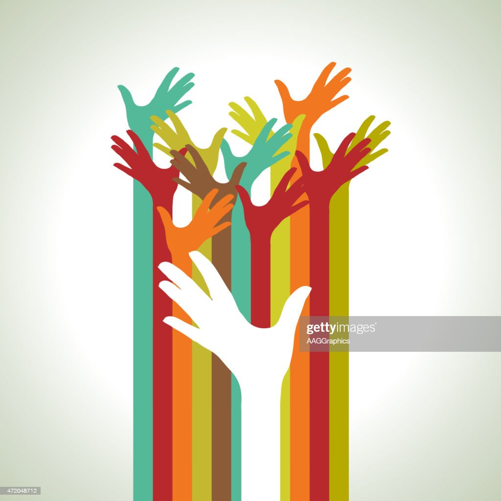 arm colorful up hands illustration