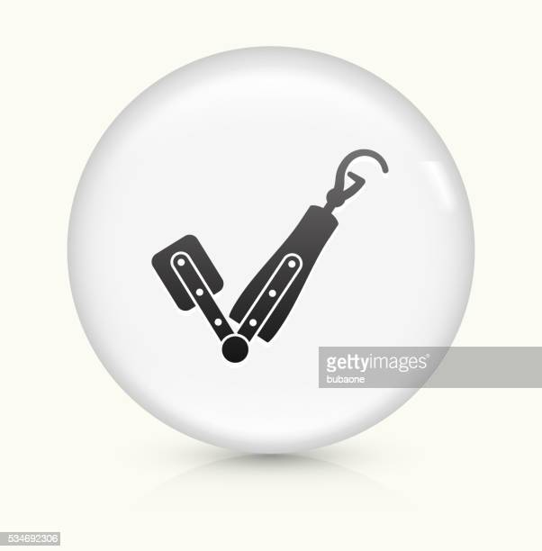 Arm Transplant icon on white round vector button