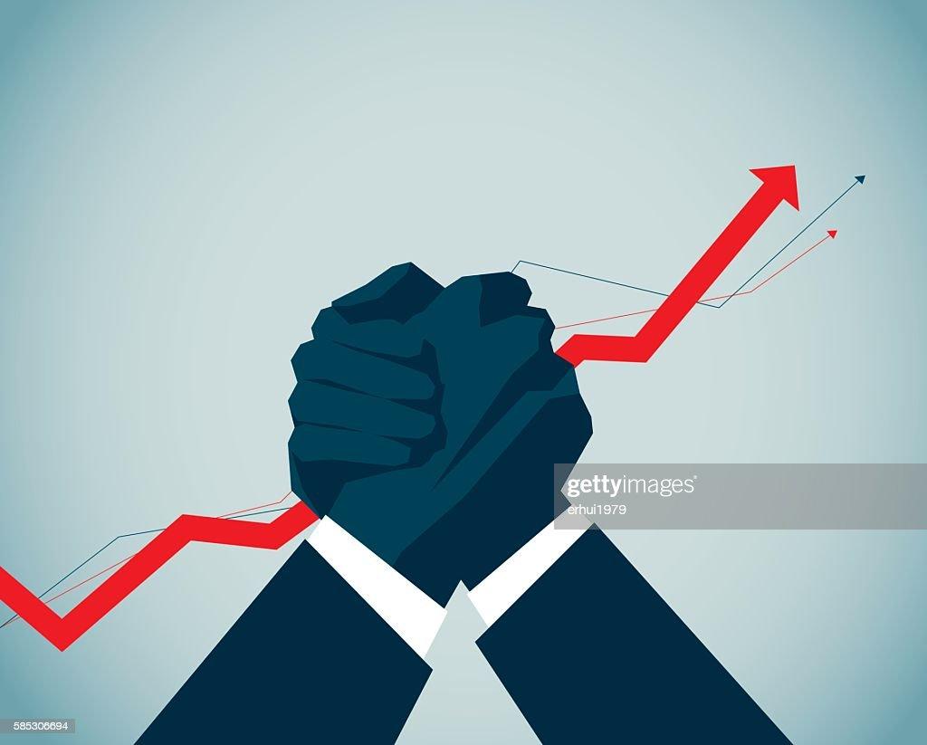 Arm Wrestling : stock illustration