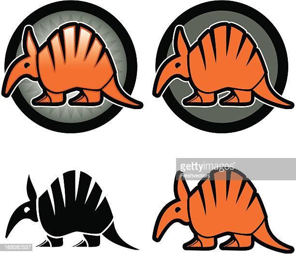 armadillo icon vector - anteater stock illustrations