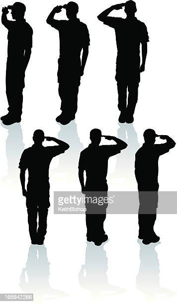 Armed Forces Salute - Military Soldier or Boy Scout