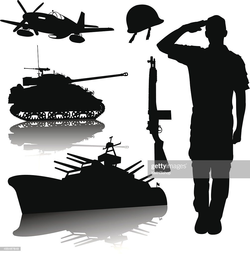 US Armed Forces - World War Two : stock illustration