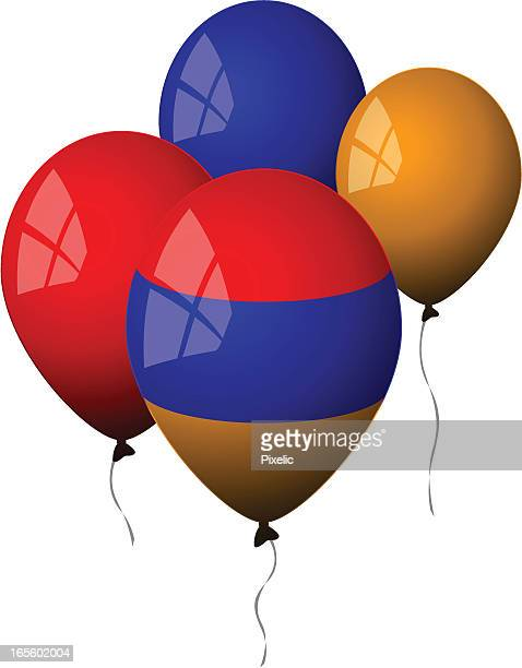 armenia - balloons - armenian flag stock illustrations