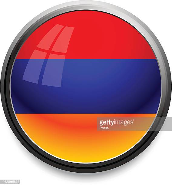 armenia - flag icon - armenian flag stock illustrations