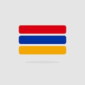 Armenia flag state symbol stylized geometric elements