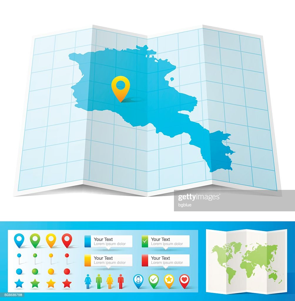 Picture of: Armenia Map With Location Pins Isolated On White Background High Res Vector Graphic Getty Images