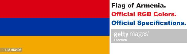 armenian flag (official rgb colours and specifications) - armenian flag stock illustrations