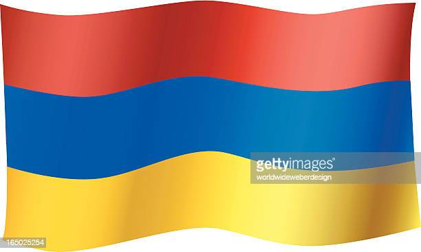armenian flag - armenian flag stock illustrations