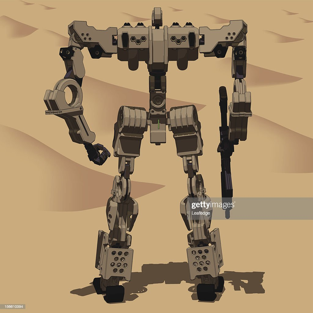 Armored Loader for army(with assault rifle)[rear view]