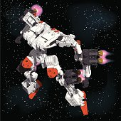Armored-Loader for space(high-maneuver-package)[front left overlook view]
