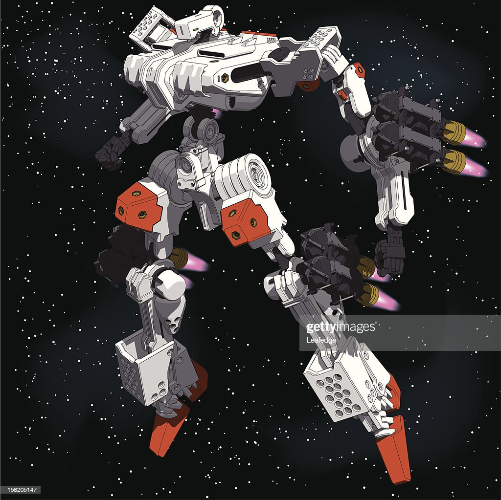 Armored-Loader for space(high-maneuver-package)[front left view]