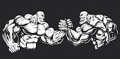 Armwrestling wrestling on hands