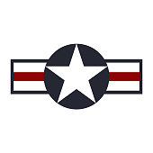 U.S. Army air force sign symbol. Vector