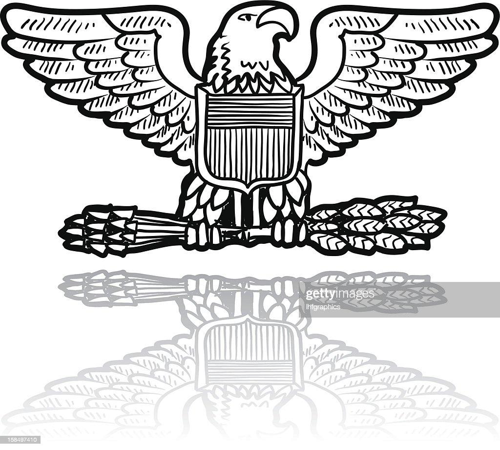 US Army eagle insignia sketch