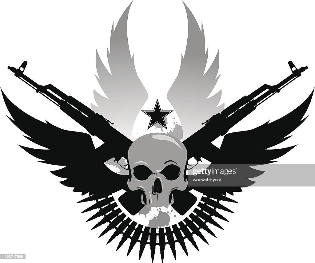 Ejército emblema : Ilustración de stock