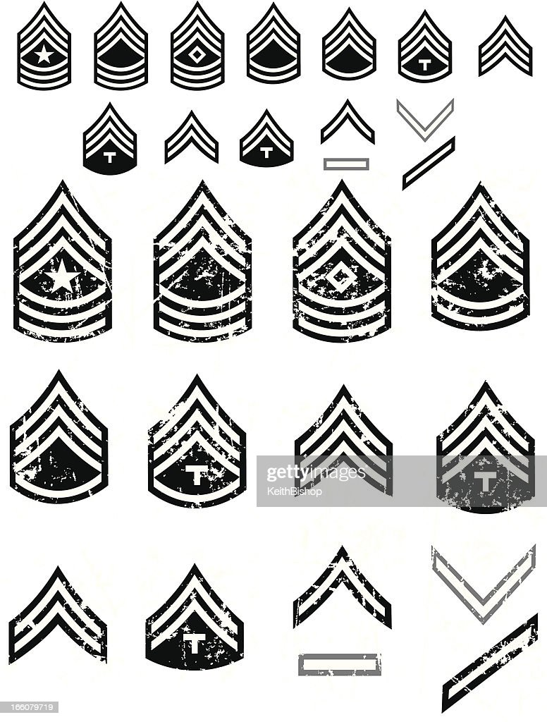 Us army enlistment symbols or arm patch ranks vector art getty images us army enlistment symbols or arm patch ranks vector art biocorpaavc Images