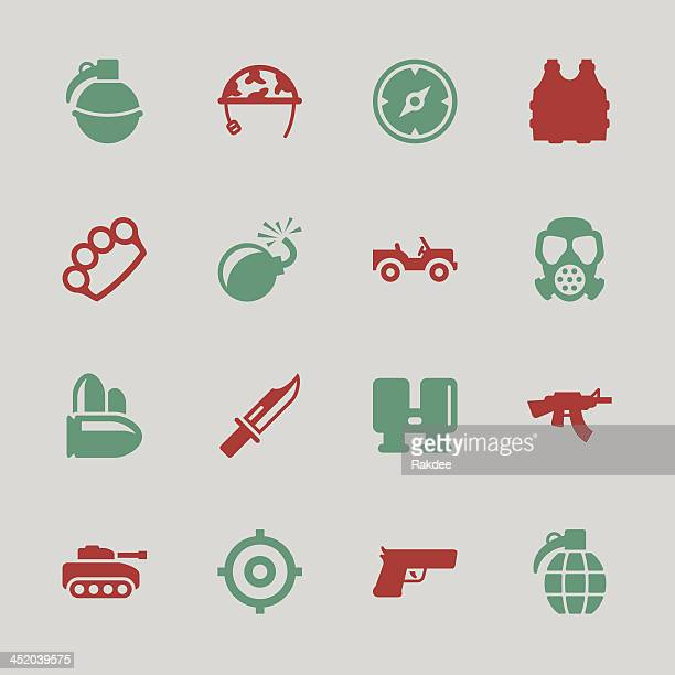 army icons - color series | eps10 - us military stock illustrations, clip art, cartoons, & icons