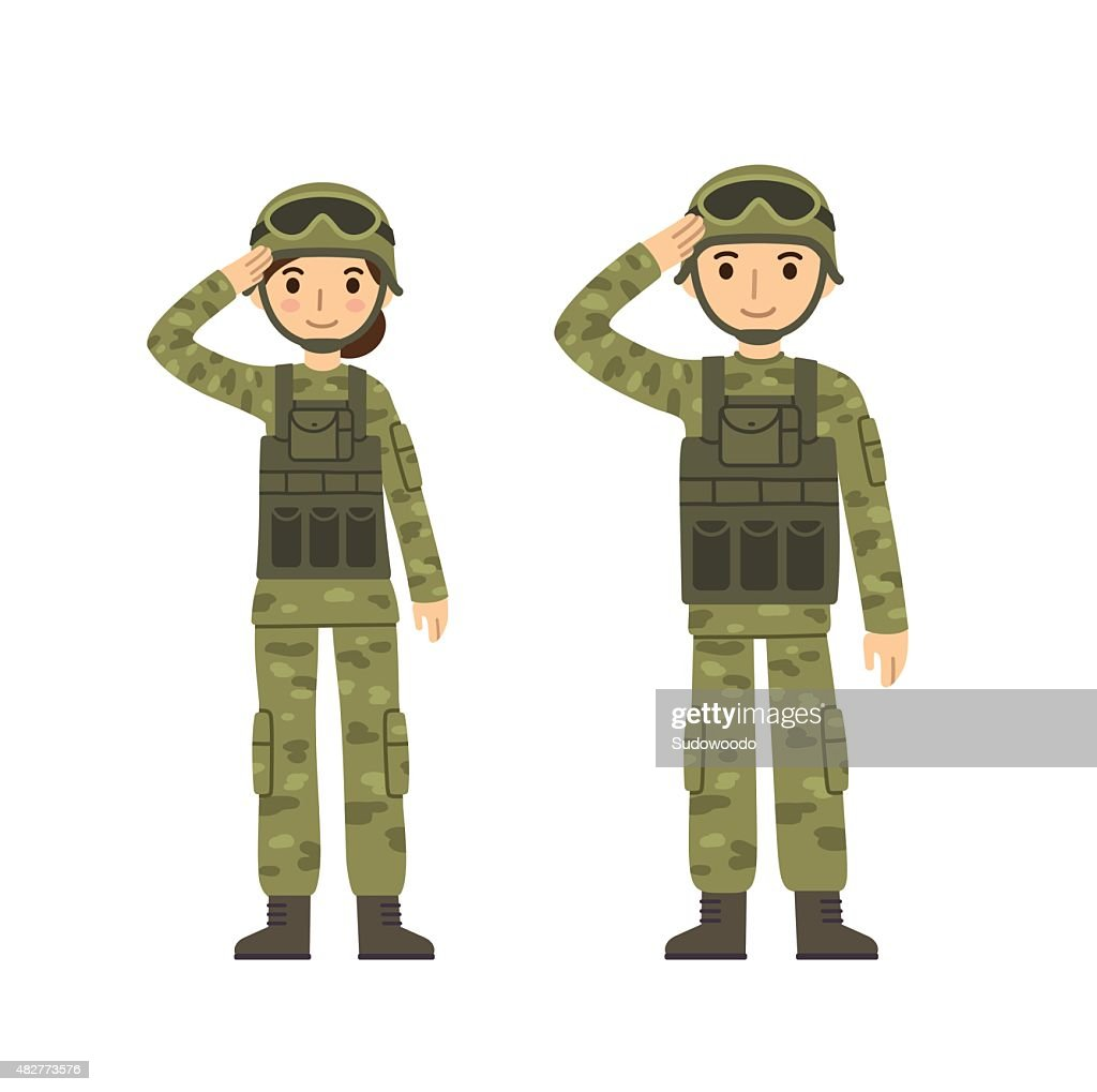 Army man and woman