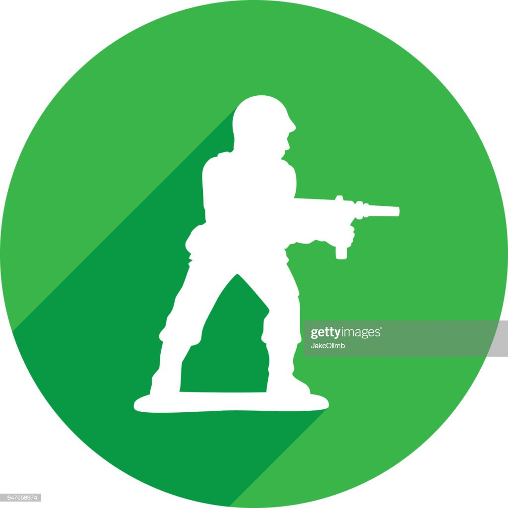 Army Man Icon Silhouette 2