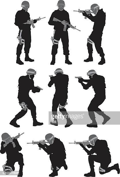 Army man in various actions