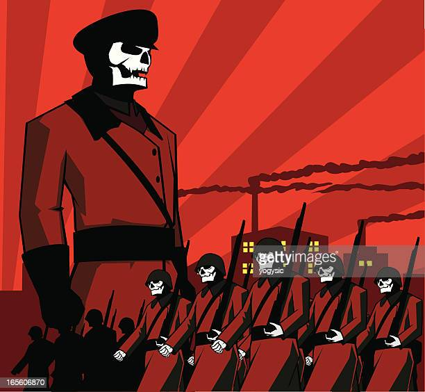 army of doom - socialism stock illustrations