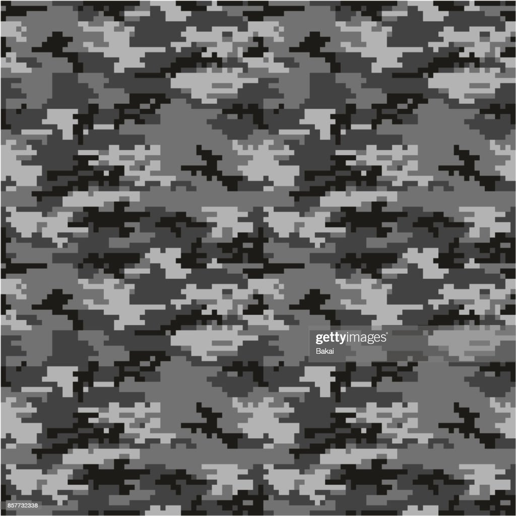 Army or Military Special Forces Digital Camouflage Seamless Vector Pattern or Seamless Vector Background