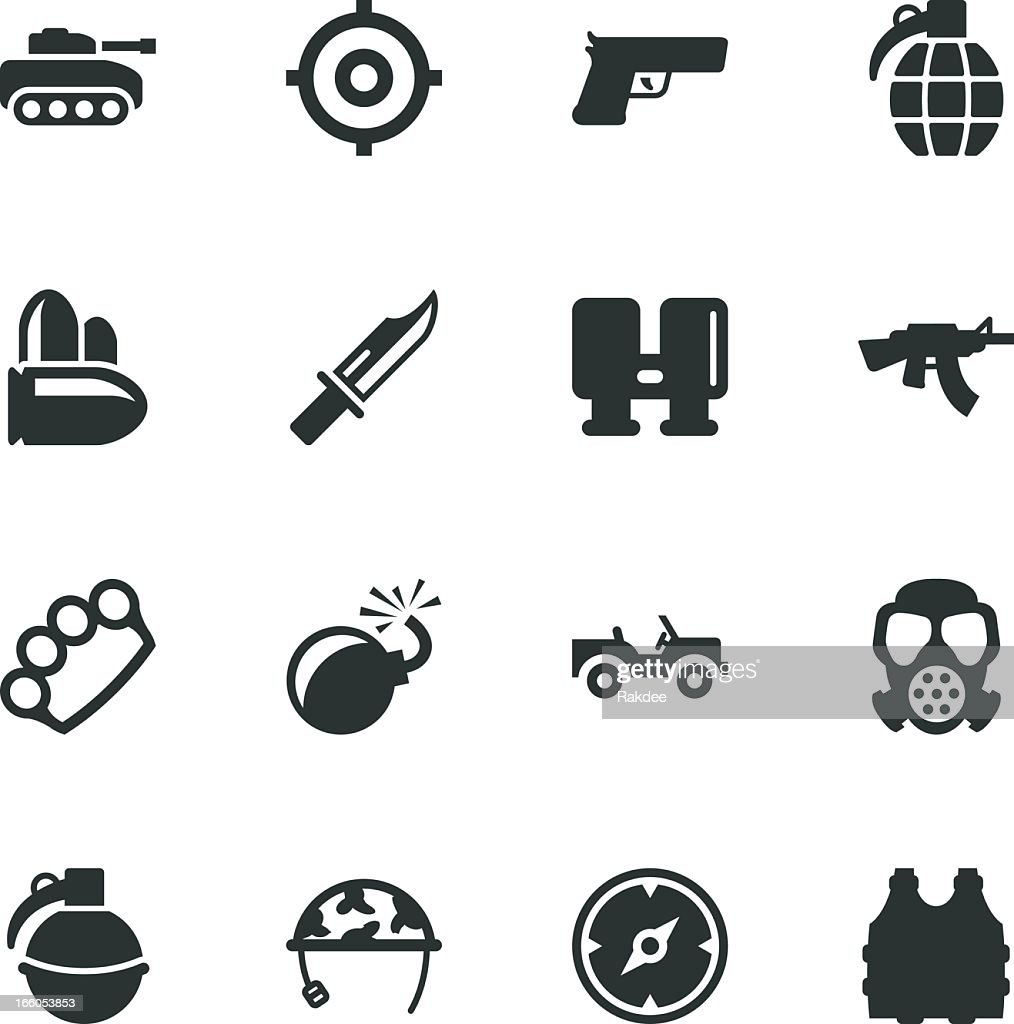 Army Silhouette Icons