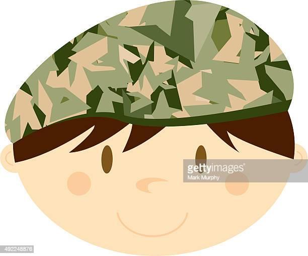 Soldat militaire Béret à imprimé Camouflage