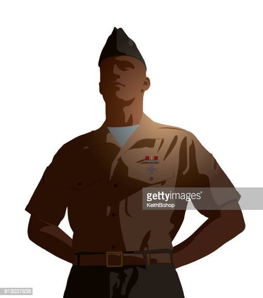 us army soldier - parade stock illustrations, clip art, cartoons, & icons