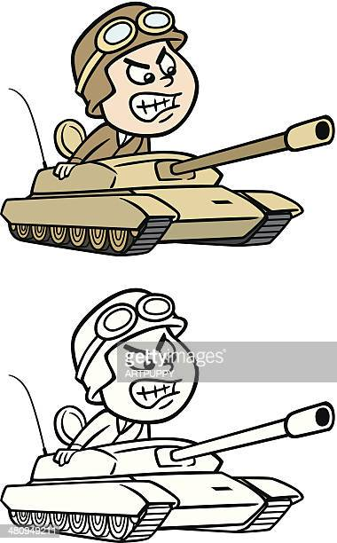 army tank driver - army helmet stock illustrations, clip art, cartoons, & icons