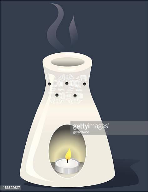 aroma burner - aromatherapy stock illustrations, clip art, cartoons, & icons