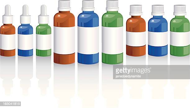 aromatherapy oil bottles - aromatherapy stock illustrations, clip art, cartoons, & icons