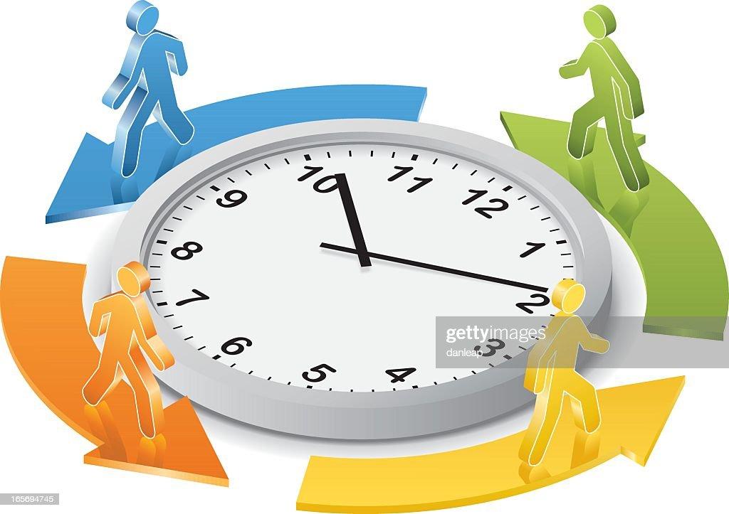 Around the Clock : Vector Art