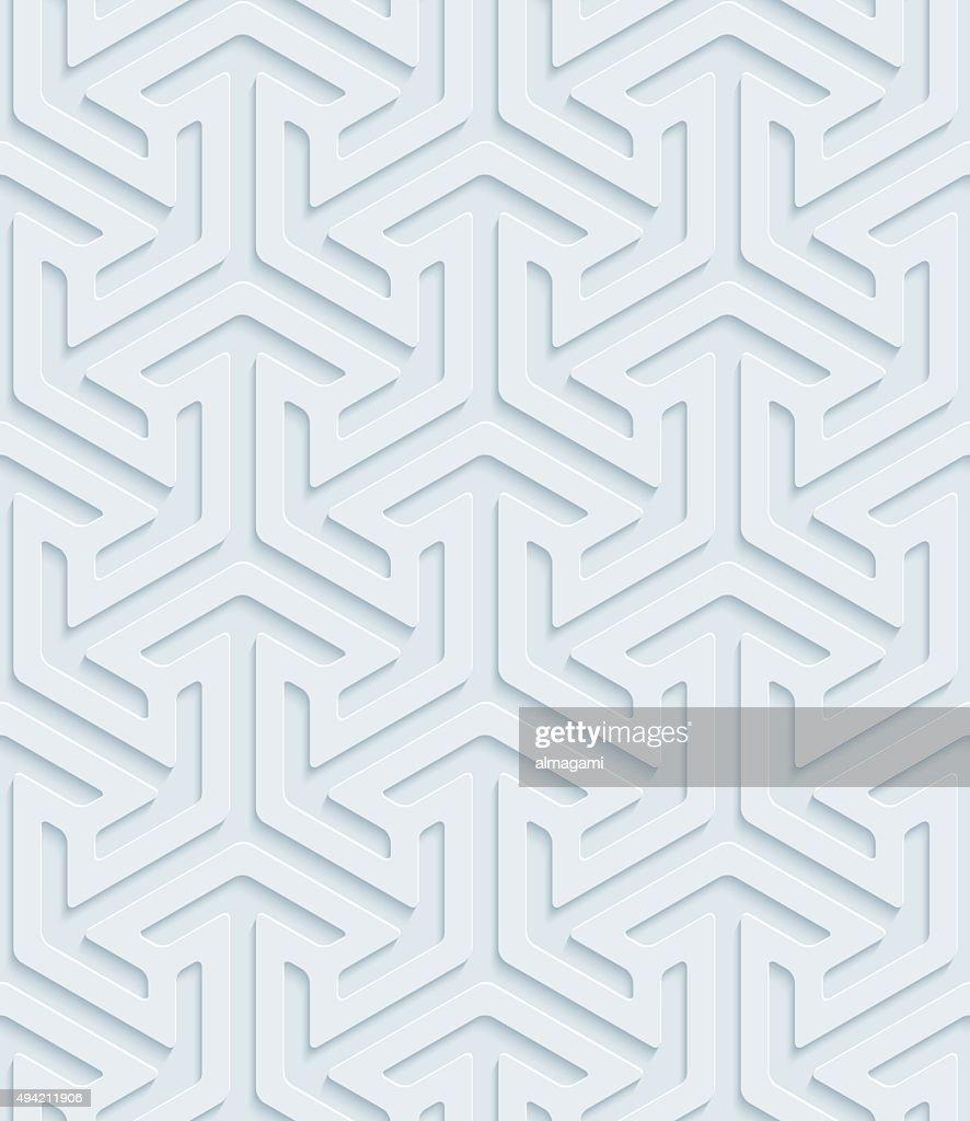 Arows isometric 3D Seamless Wallpaper Pattern.