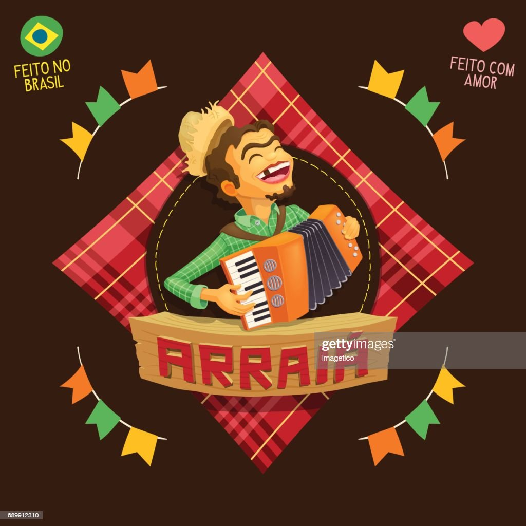 Arraia (means village, also name June Parties) - Accordion player icon