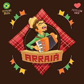 Arraia (means village, also name June Parties) - Accordion player icon