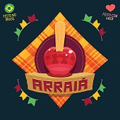 Arraia (means village, also name June Parties) - Apple candy icon