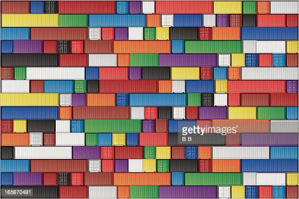arrangement of blocks in multiple colors - rail freight stock illustrations, clip art, cartoons, & icons