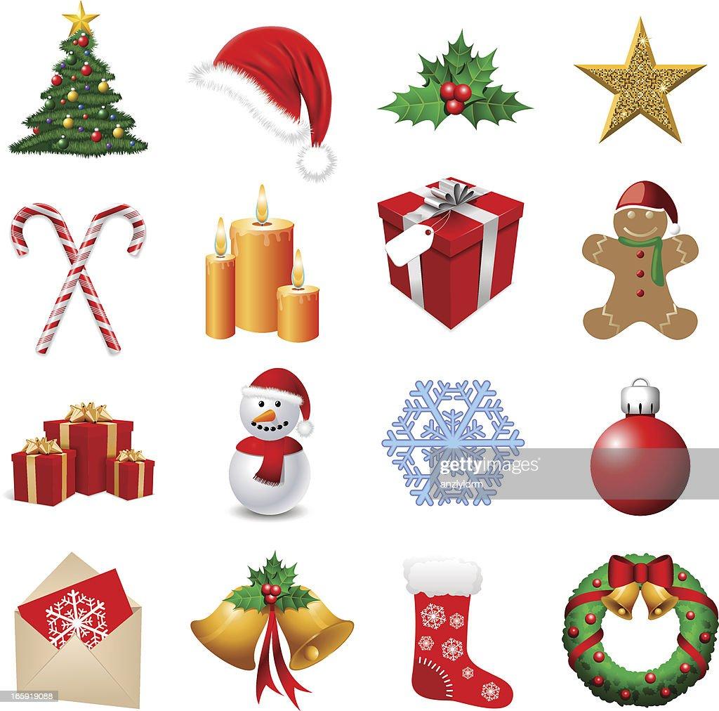 arrangement of sixteen christmas themed emoji vector art getty images