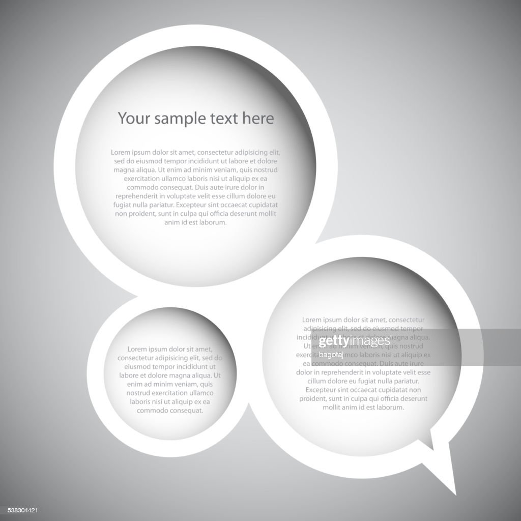 array of speech bubbles with sample text