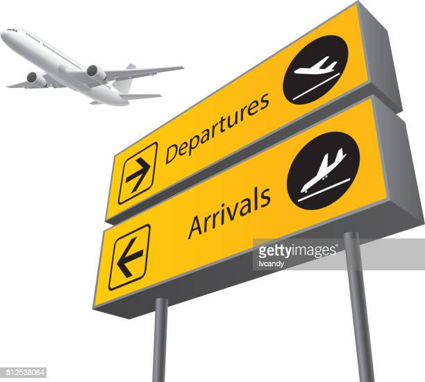 arrival and departure board - airport terminal stock illustrations, clip art, cartoons, & icons